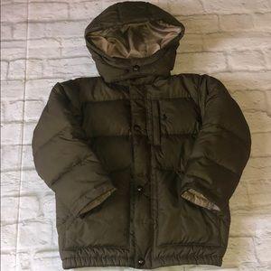 Boys army green Ralph Lauren puffer coat sz 5